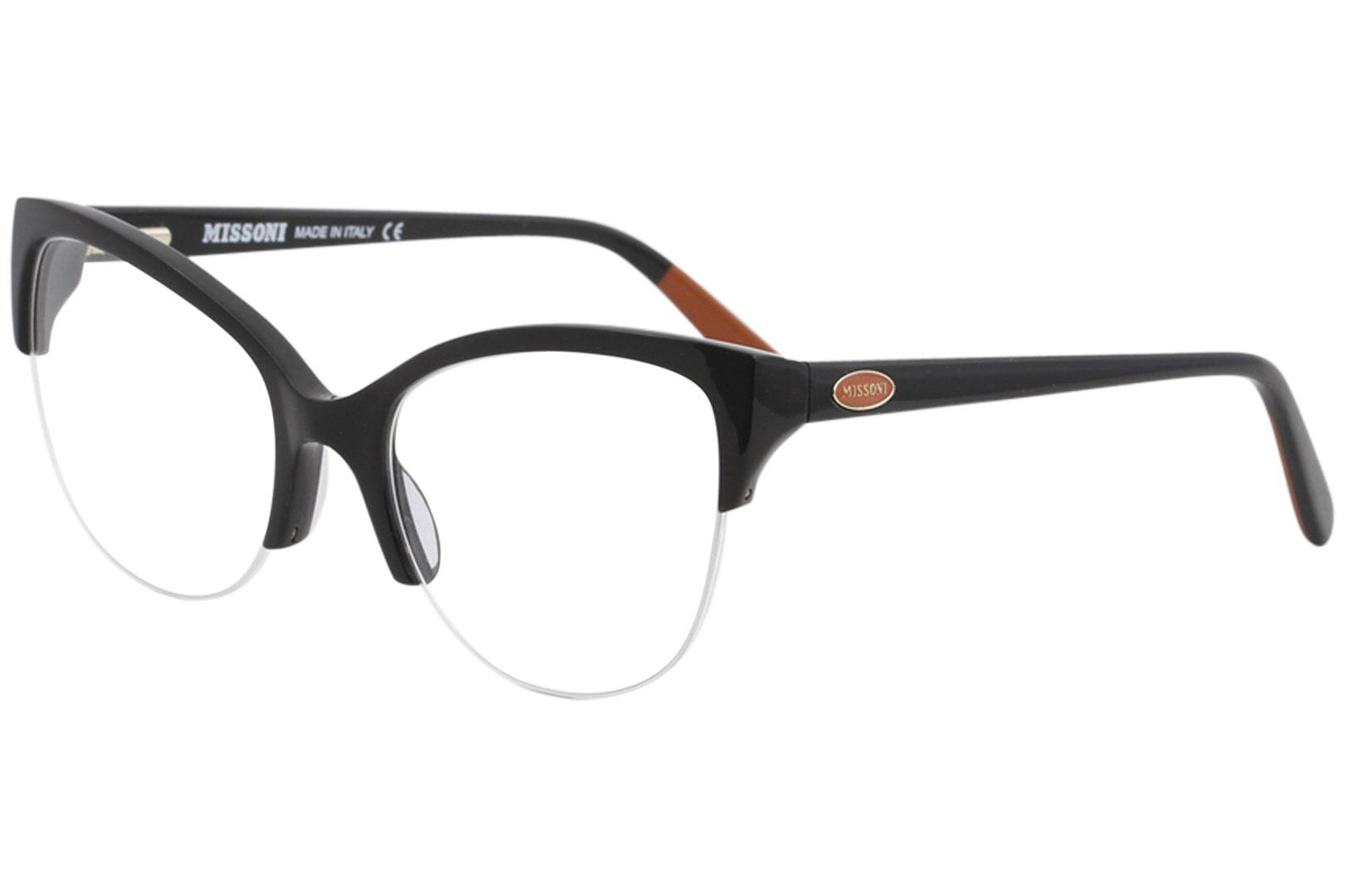Image of Missoni Women's Eyeglasses MI316V MI/316/V Full Rim Optical Frame 55mm - 01 Black - Lens 55 Bridge 19 Temple 140mm