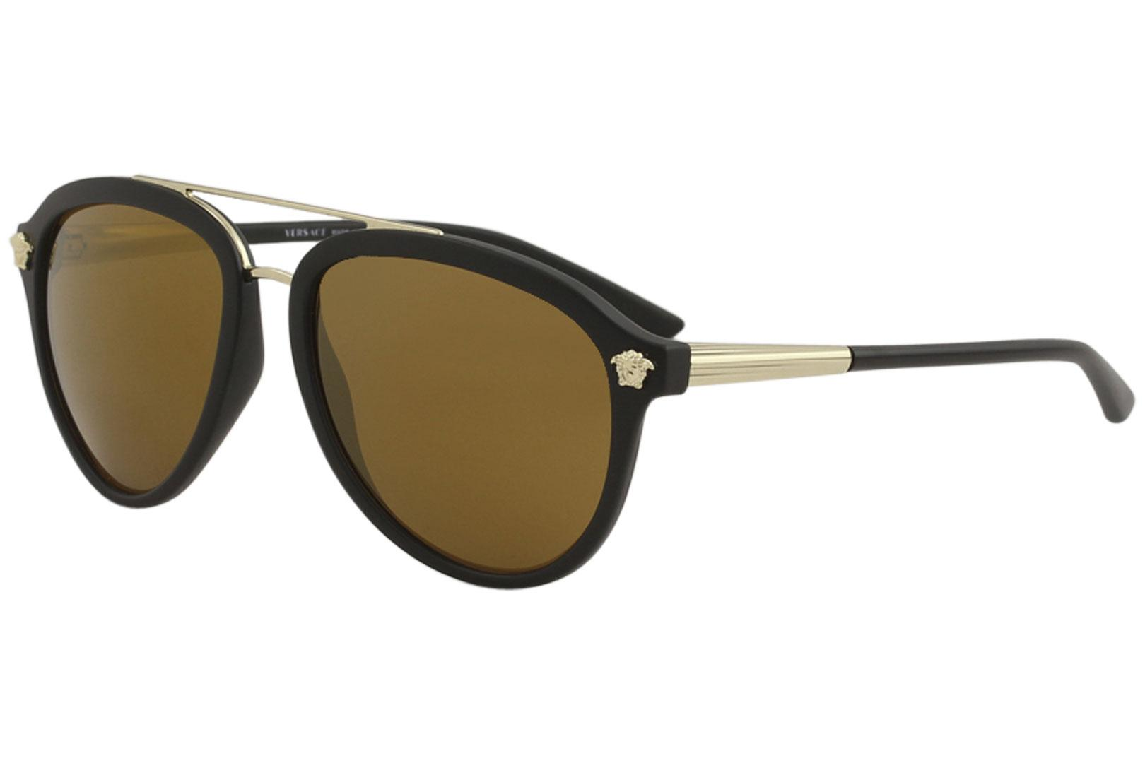 05fa5170cc7f9 Versace Men s VE4341 VE 4341 Fashion Pilot Sunglasses by Versace. Touch to  zoom