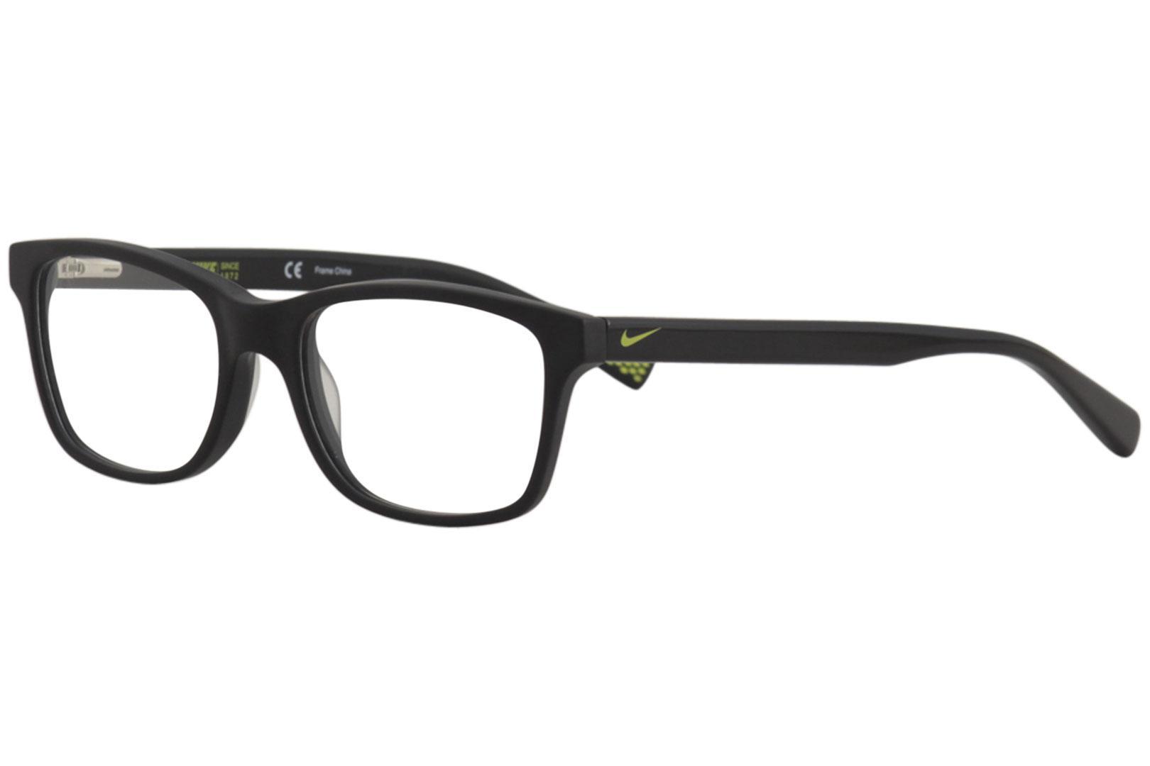 e703fe85a6b Nike Men s Eyeglasses 5015 002 Black Full Rim Optical Frame 48mm ...
