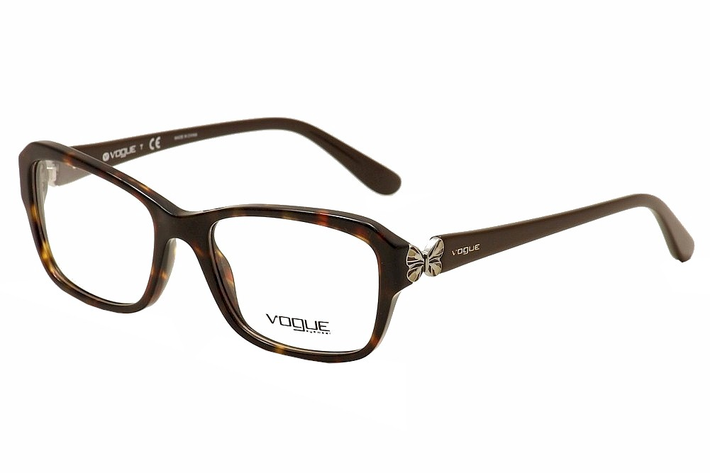 Image of Vogue Women's Eyeglasses VO2936 VO/2936 Full Rim Optical Frame - Brown - Lens 54 Bridge 17 Temple 135mm