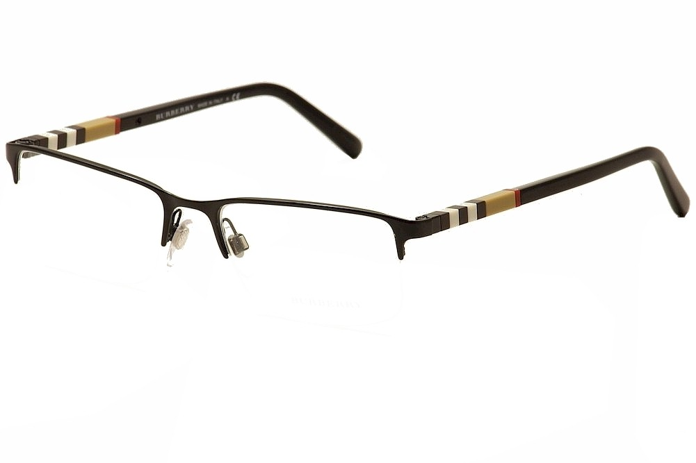 Burberry Men S Eyeglasses Be1282 Be 1282 Semi Rim Optical Frame