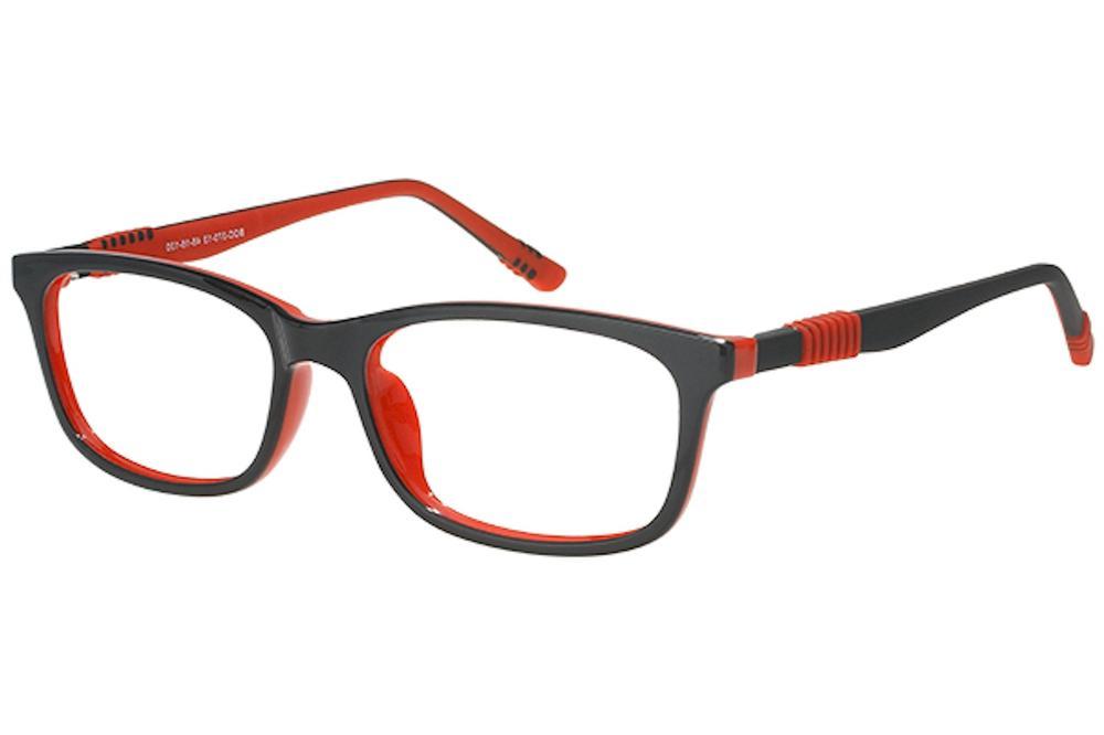 Image of Bocci Boy's Eyeglasses 370 Full Rim Optical Frame - Red   13 - Lens 48 Bridge 16 Temple 130mm