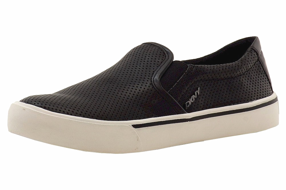 Image of Donna Karan DKNY Women's Bess Slip On Sneakers Shoes - Black - 6.5