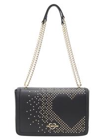 Love Moschino Women's Studded Heart Shoulder Handbag