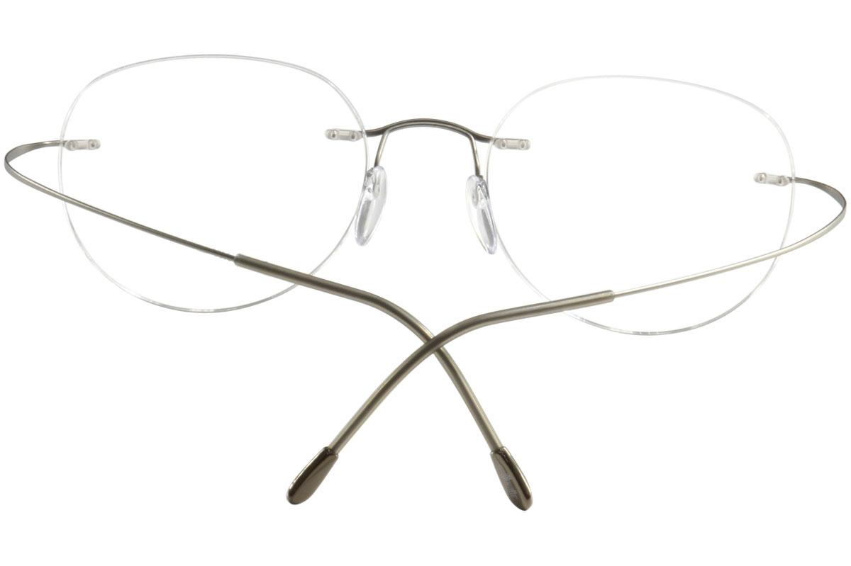 045cd423f6 Silhouette Eyeglasses TMA Must Collection Chassis 5515 Rimless Optical  Frame by Silhouette