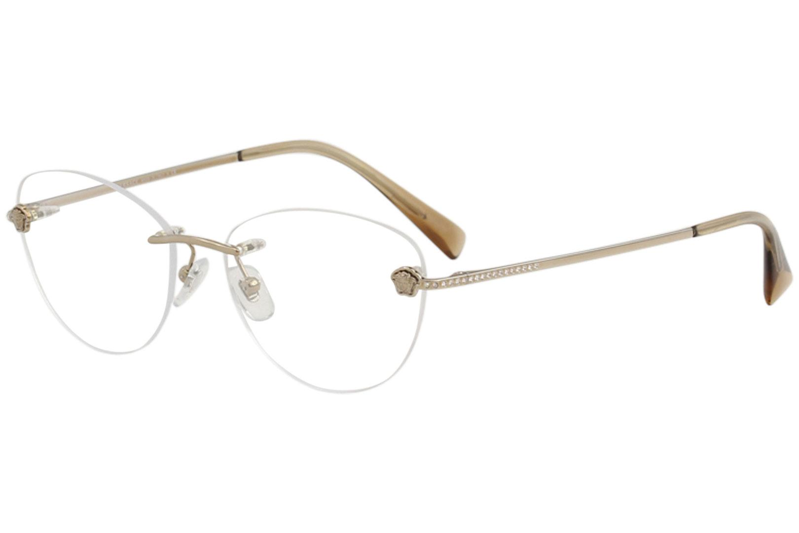 f01a7c2ca21 Versace Women s Eyeglasses VE1248B VE 1248 B Rimless Optical Frame by  Versace. Touch to zoom