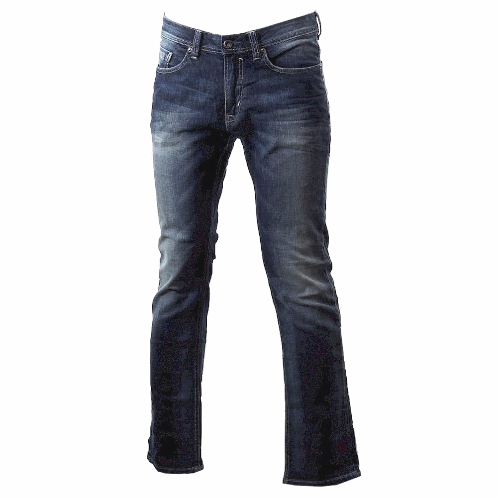 Image of Buffalo By David Bitton Men's Evan X Slim Stretch Jeans - Blue; Contrasted And Dirty - 32x32