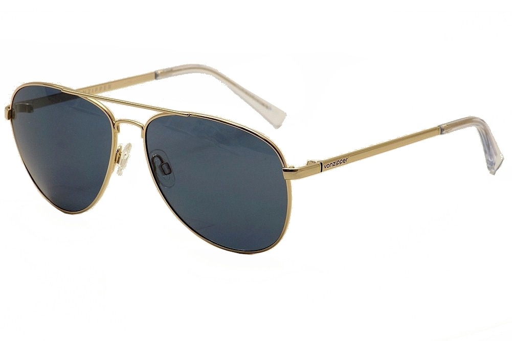 Image of Von Zipper Farva Fashion Pilot VonZipper Sunglasses - Gold - Medium Fit