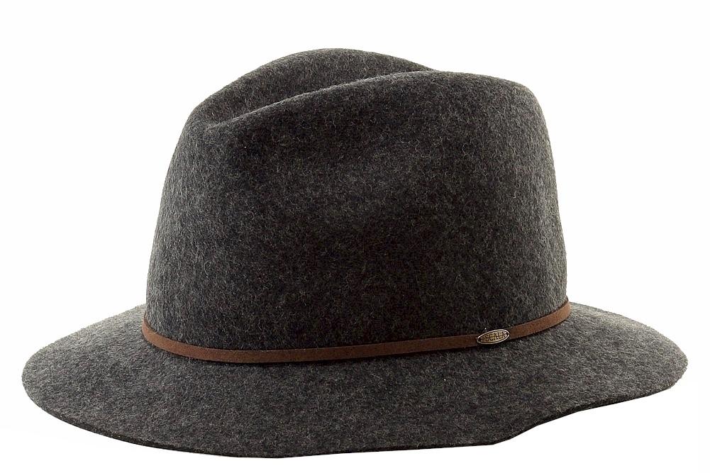 Image of Scala Classico Men's Four Seasons Wool Felt Crushable Safari Hat - Grey - X Large