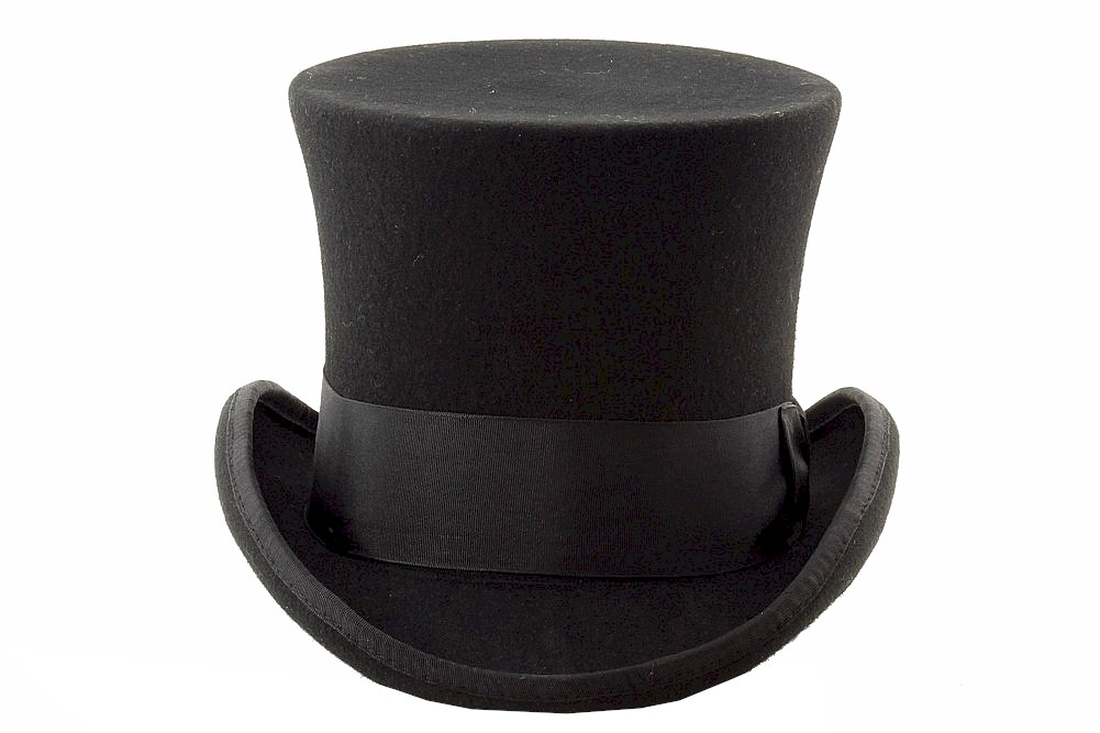 011fb4b4f33 Scala Classico Men s Mad Hatter Wool Felt Top Hat by Scala