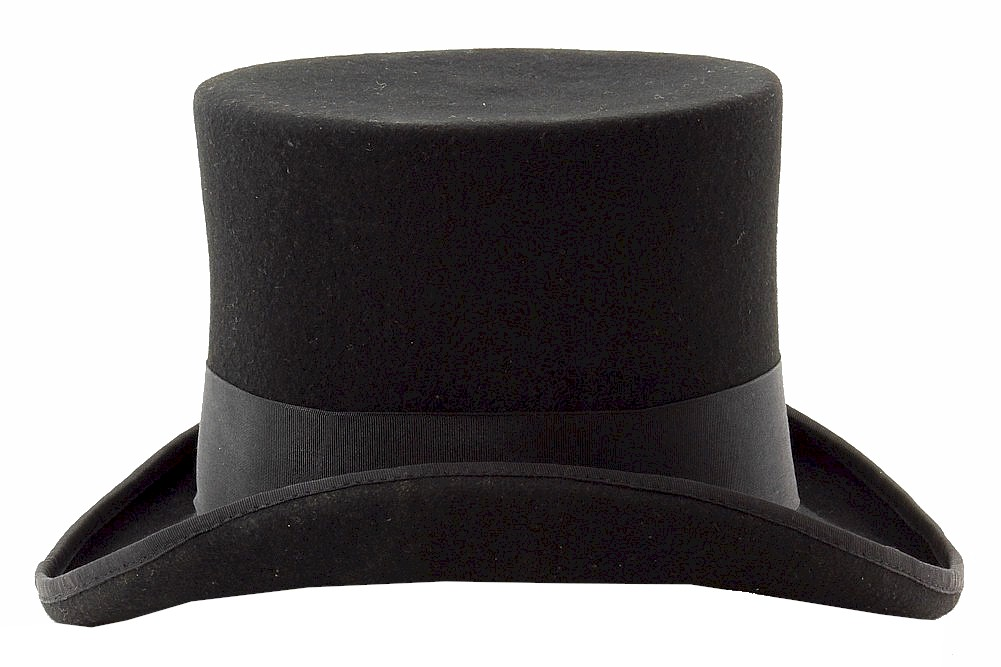 1afbf5d3fd883f Scala Classico Men's Mad Hatter Wool Felt Top Hat by Scala