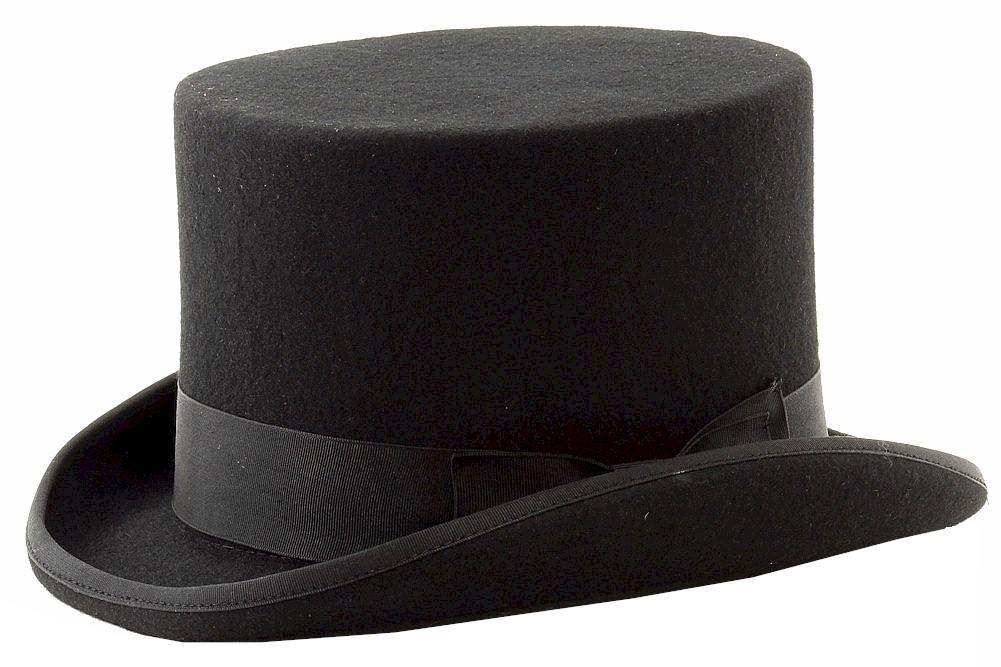 Image of Scala Classico Men's Fashion Wool Felt Top Hat - Black - Medium