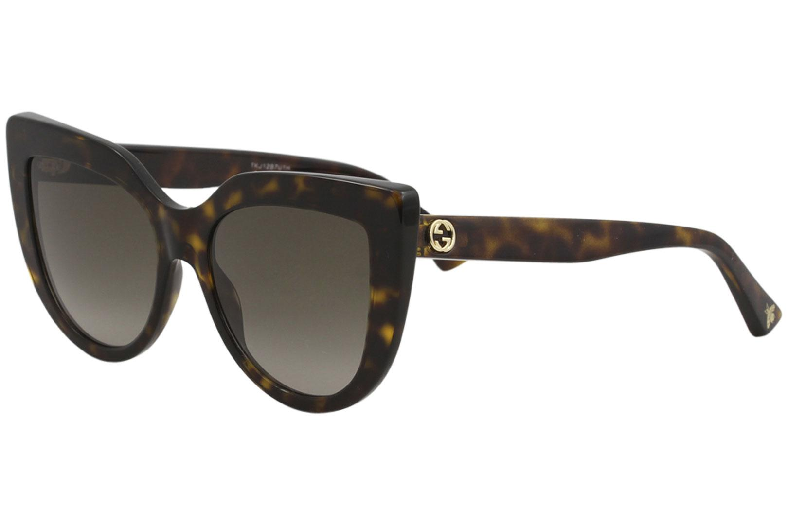 0f90cf45b00 Gucci Women s Urban GG0164S GG 0164 S 002 Havana Cat Eye Sunglasses ...