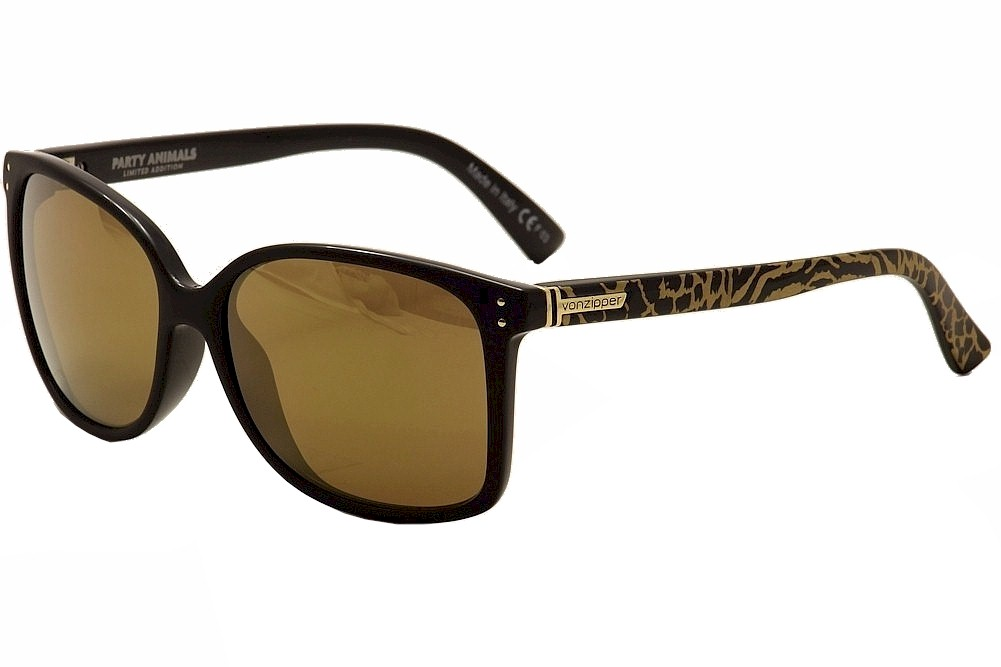 Image of VonZipper Women's Castaway Von Zipper Fashion Sunglasses - Black - Medium Fit