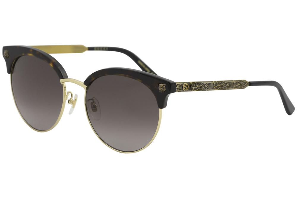 9f940544804 Gucci Women s GG0222SK GG 0222 SK Fashion Round Sunglasses