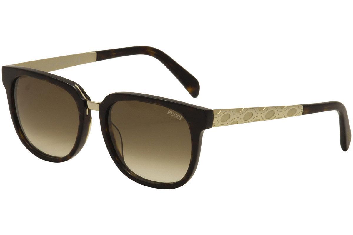 Image of Emilio Pucci Women's EP0001 EP/0001 Fashion Sunglasses - Brown - Lens 54 Bridge 17 Temple 140mm