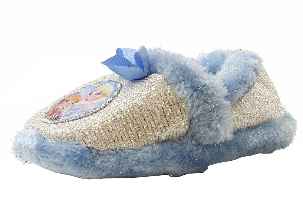 Image of Disney's Frozen Toddler Girl's Scuff Glitter Slippers Shoes - White - 11/12   Little Kid