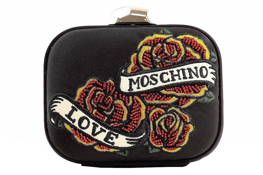 Love Moschino Women s Satin Box Clutch Handbag JC4213PP00KT