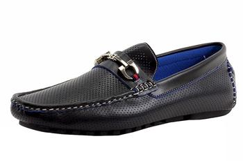 Reverse Men's Fashion Perforated Accent Loafers Shoes UPC: