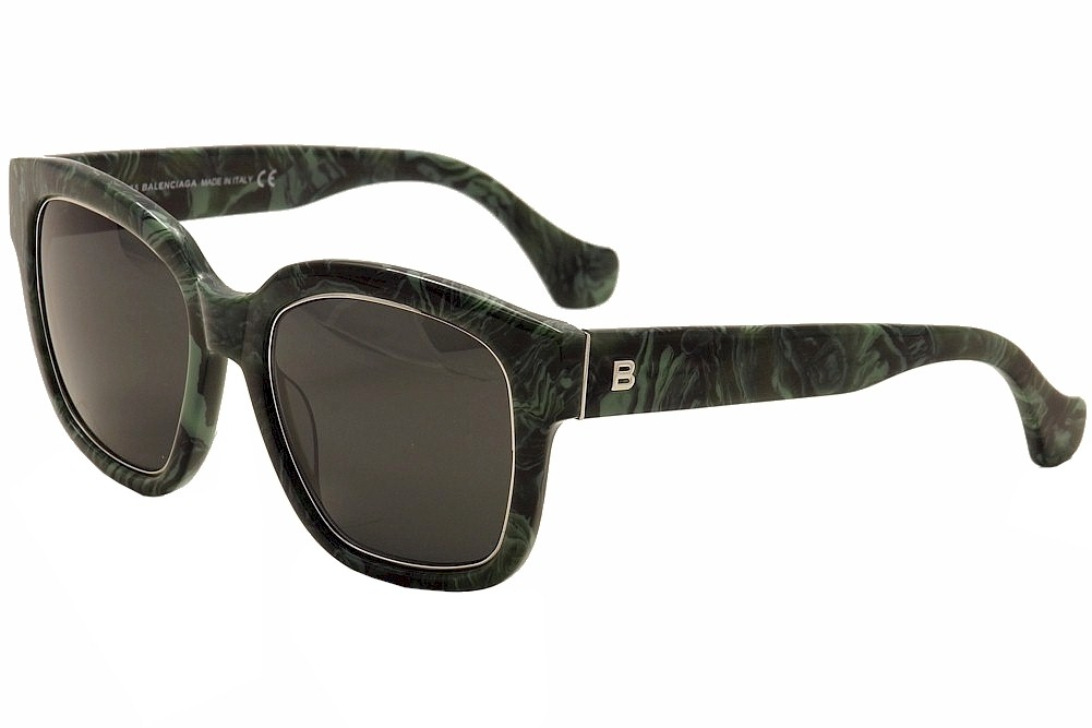 Image of Balenciaga BA50 BA/50 Fashion Sunglasses - Green - Medium Fit
