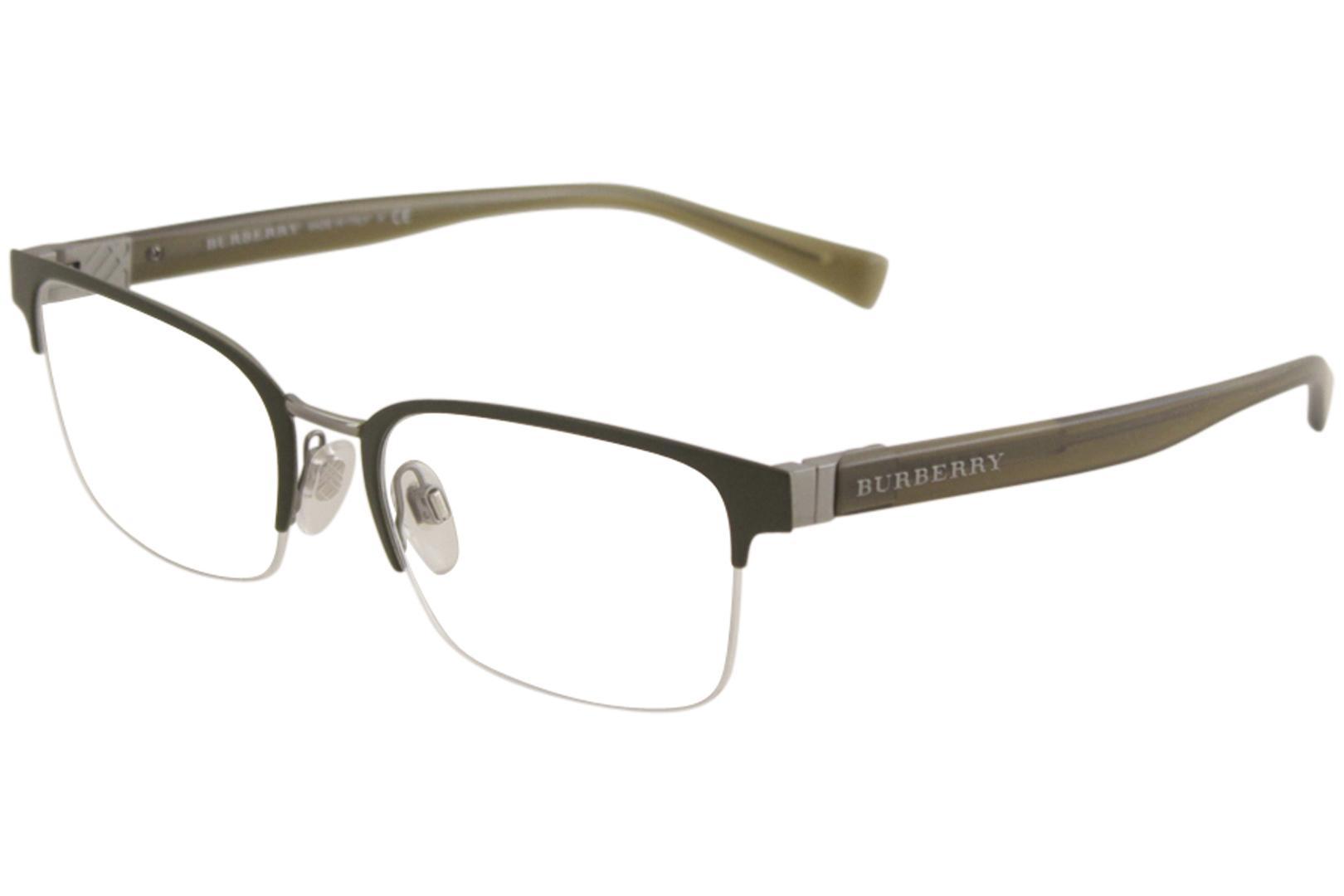 43de0ae6893d Burberry Men's Eyeglasses BE1308 BE/1308 Half Rim Optical Frame