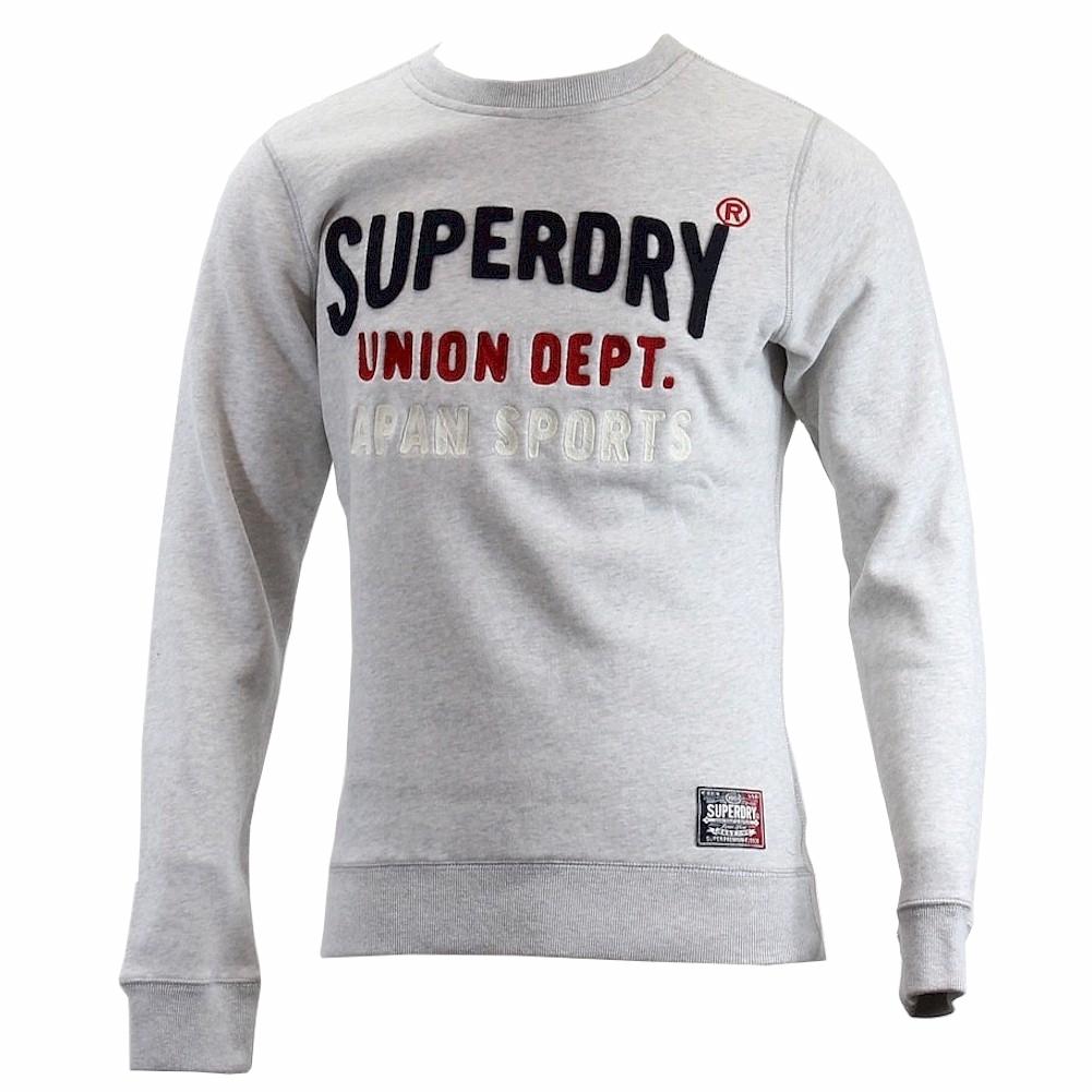 Image of Superdry Men's Core Applique Crew Neck Pull Over Sweatshirt - Grey - Large