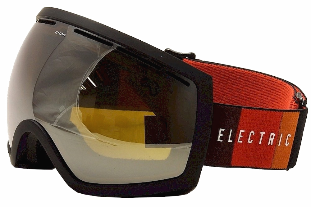 Image of Electric EG2 EG0513 EG/0513 Ergonomic Snow Goggles - Orange Blast Black/Bronze Silver Chome W/Extra Len