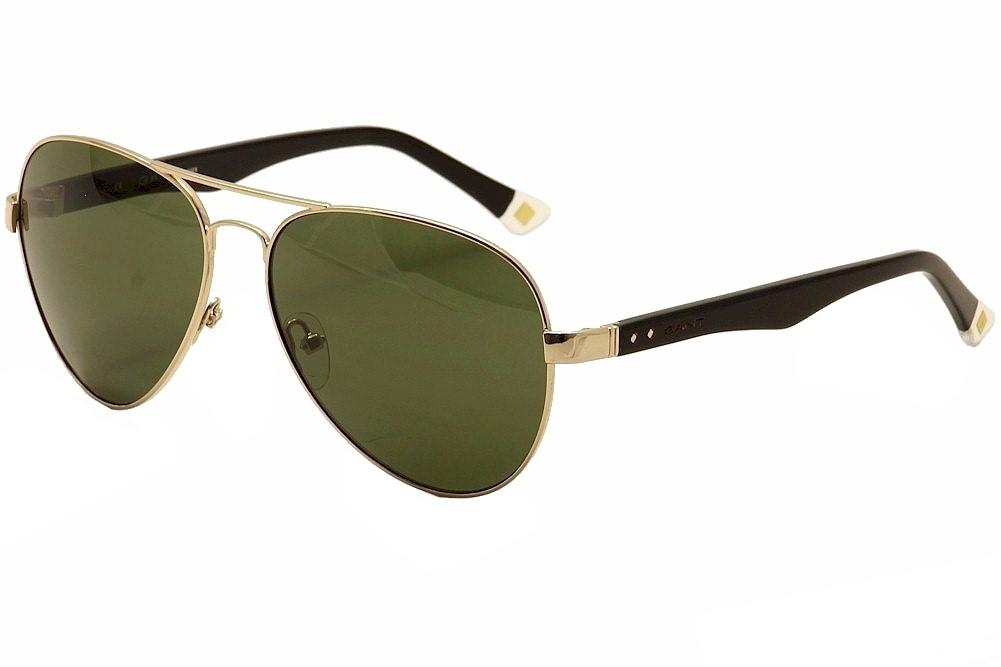 Image of Gant Rugger Men's GRS2000 GRS/2000 Fashion Pilot Sunglasses - Gold - Lens 59 Bridge 14 Temple 140mm