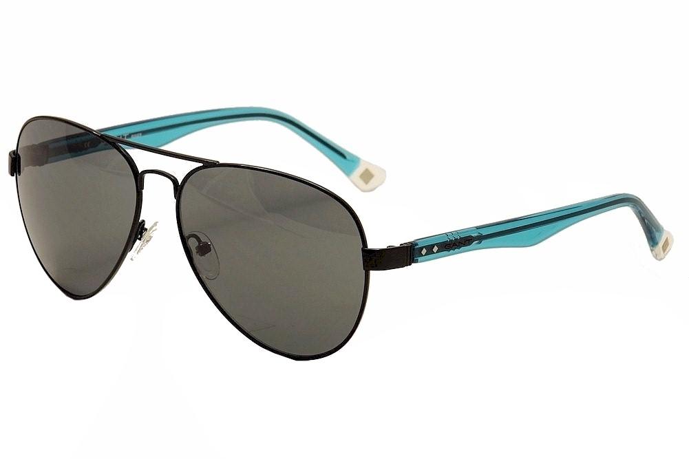 Image of Gant Rugger Men's GRS2000 GRS/2000 Fashion Pilot Sunglasses - Black - Lens 59 Bridge 14 Temple 140mm