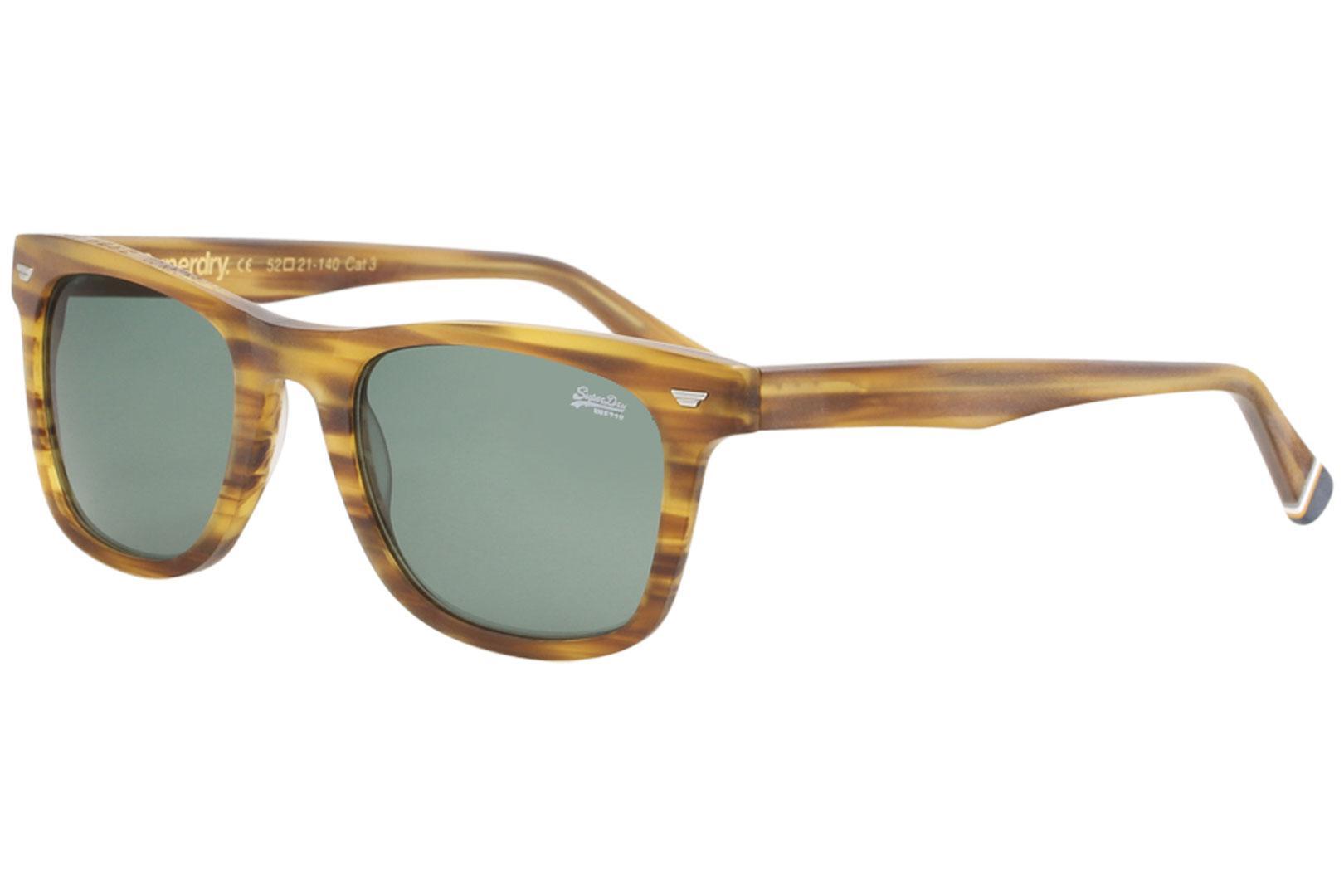 Image of Superdry SDS San Fashion Square Sunglasses - Brown - Lens52 Bridge 21 Temple 140mm