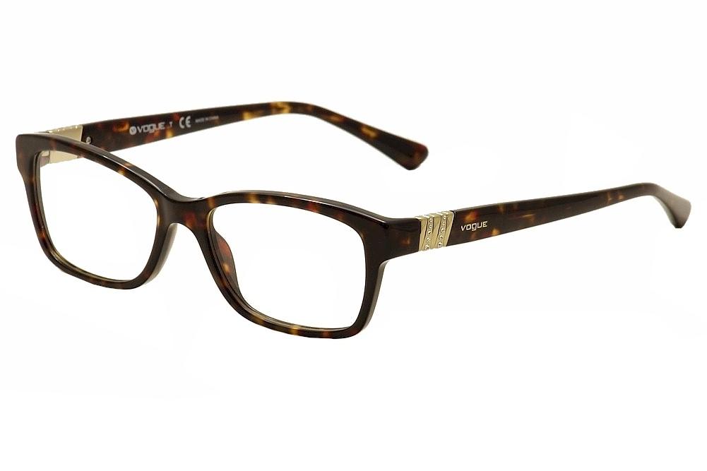 Image of Vogue Women's Eyeglasses 2765B 2765 B Full Rim Optical Frame - Brown - Lens 51 Bridge 16 Temple 140mm