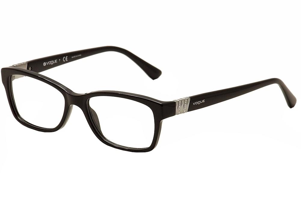 Image of Vogue Women's Eyeglasses 2765B 2765 B Full Rim Optical Frame - Black - Lens 51 Bridge 16 Temple 140mm