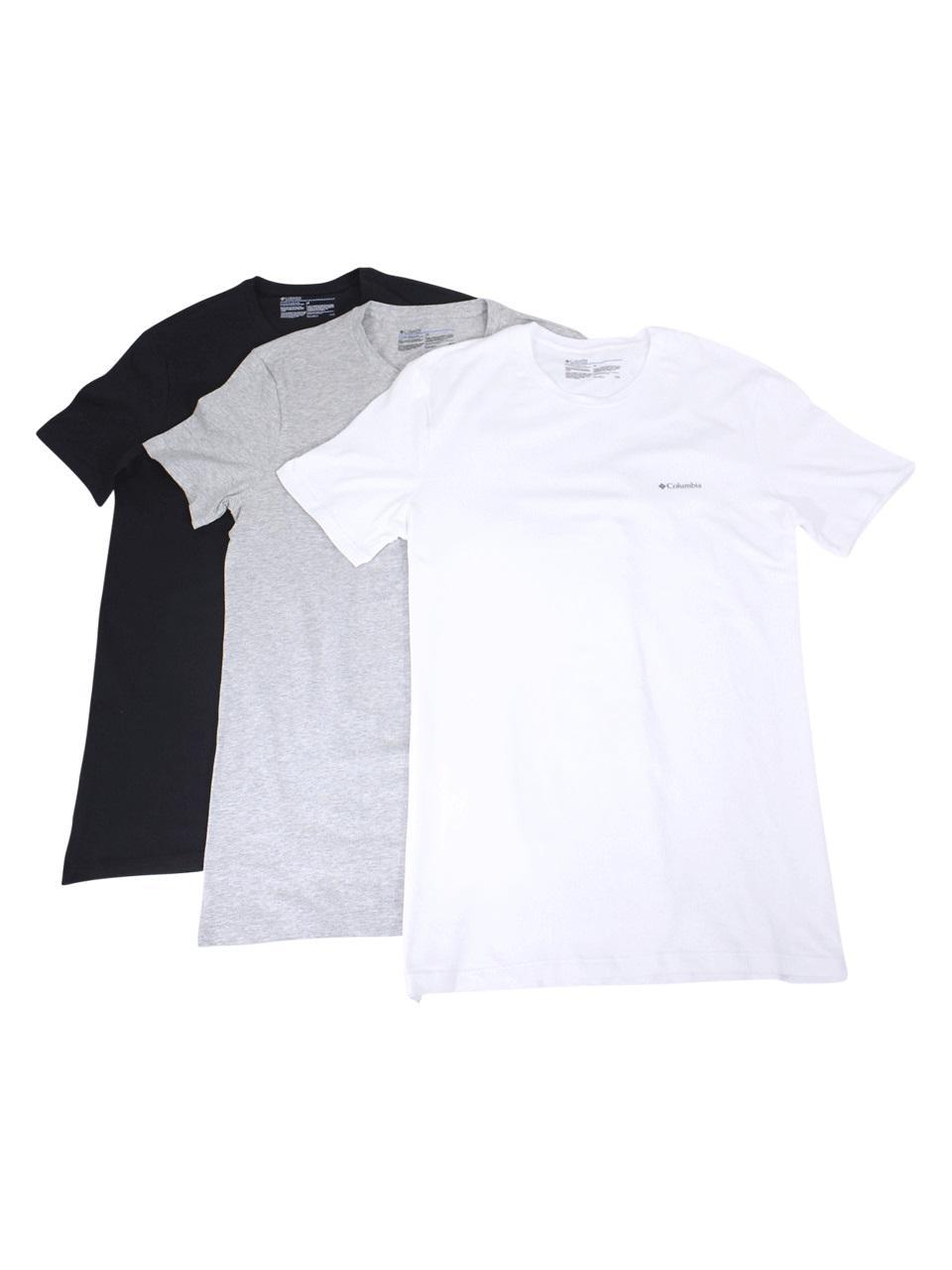 Image of Columbia Men's 3 Pc Short Sleeve Crew Neck T Shirt - Multi - Small