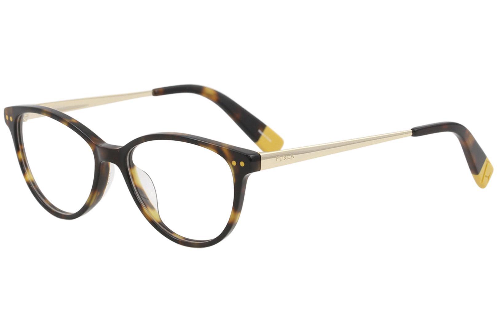 Image of Furla Women's Eyeglasses VFU083 VFU/083 0C10 Light Tortoise Optical Frame 51mm - Light Tortoise   0C10 - Lens 51 Bridge 16 B 39 ED 56 Temple 140mm