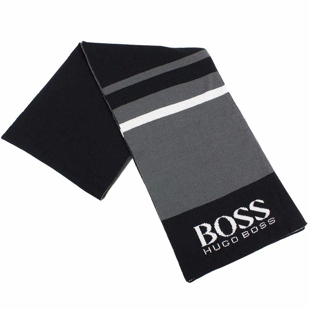 Hugo Boss Men s Knit Color Block Fashion Winter Scarf