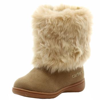 Carter's Toddler Girl's Fluffy 2 Fashion Fur Winter Boots Shoes  UPC: