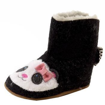 Robeez Mini Shoez Infant Girl's Panda Flannel Slip On Booties Shoes UPC: