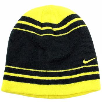 Nike Boy's Contrasting Stripe Knit Winter Beanie Hat UPC:
