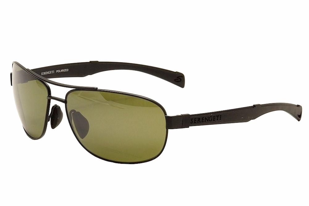 Image of Serengeti Men's Norcia Fashion Pilot Sunglasses - Black - Medium Fit