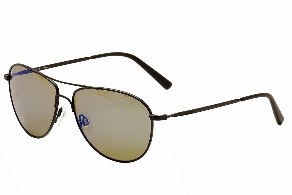 Image of Serengeti Alghero Fashion Pilot Sunglasses - Black - Medium Fit