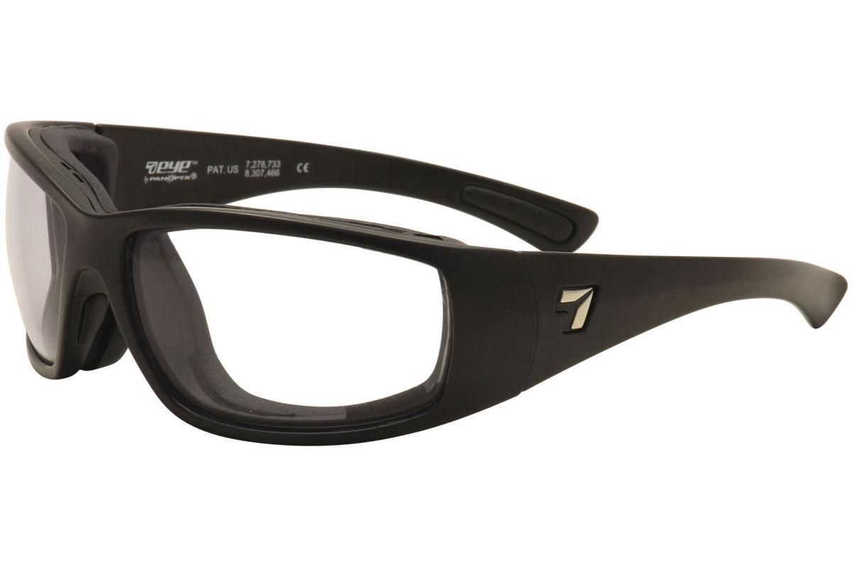 Image of 7Eye AirShield Men's Taku Plus Wrap Sport Sunglasses - Black
