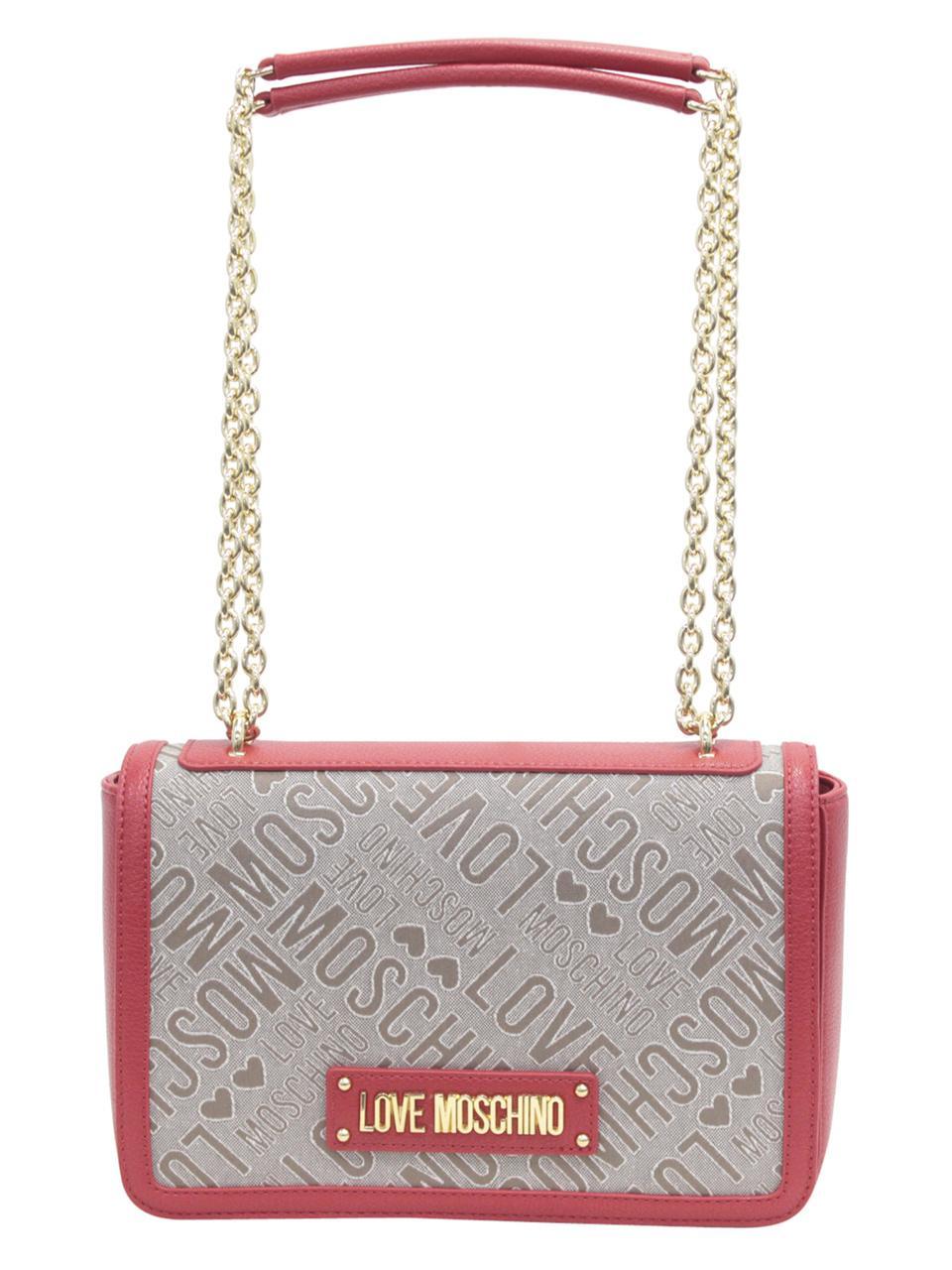 77ef4ae3edc0 Love Moschino Women s Logo Print Shoulder Handbag by Love Moschino. Touch  to zoom