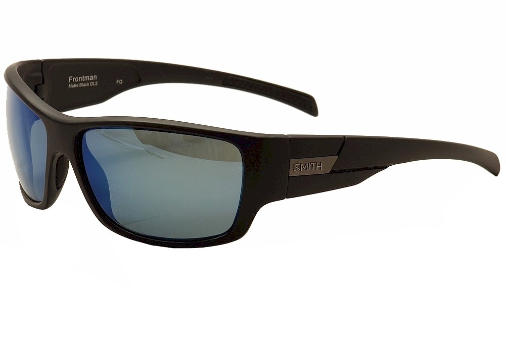 Image of Smith Optics Frontman Fashion Sunglasses - Matte Black/Grey/Blue Polarized Mirror - Lens 61 Bridge 17 Temple 125mm