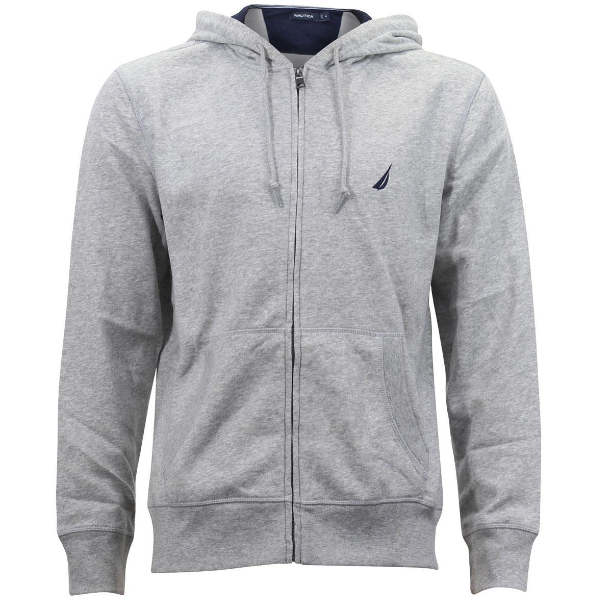 Nautica Men's Full Zip Long Sleeve Hoodie Sweatshirt