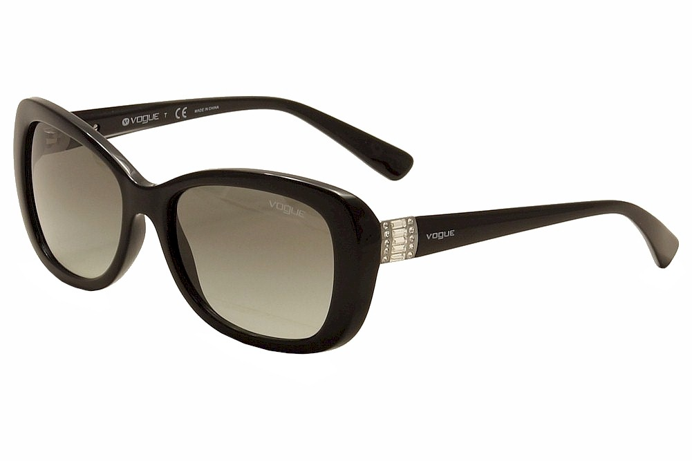 Image of Vogue Women's 2943SB 2943/SB Fashion Sunglasses - Black - Lens 55 Bridge 17 Temple 135mm