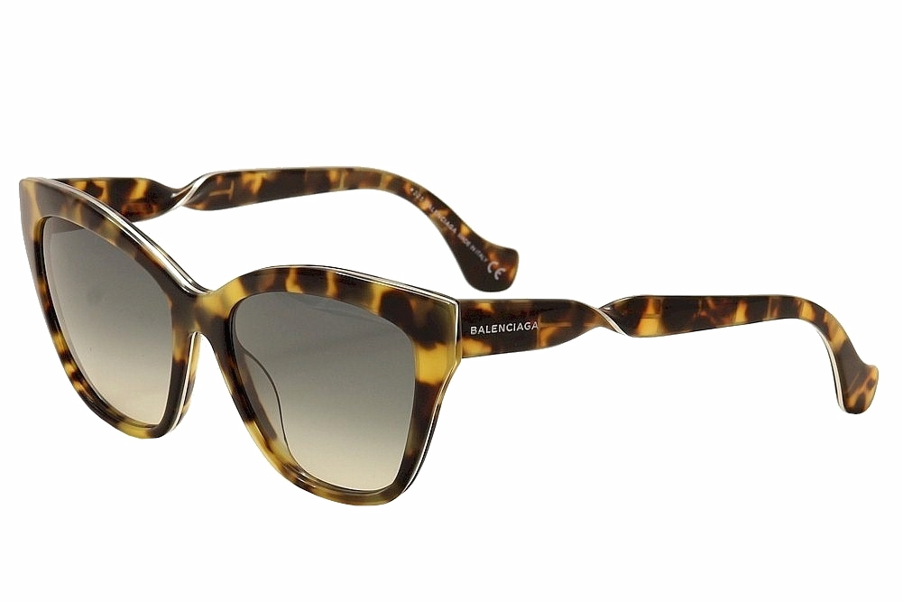 Image of Balenciaga Women's BA52 BA/52 Fashion Sunglasses - Brown - Lens 56 Bridge 17 Temple 140mm