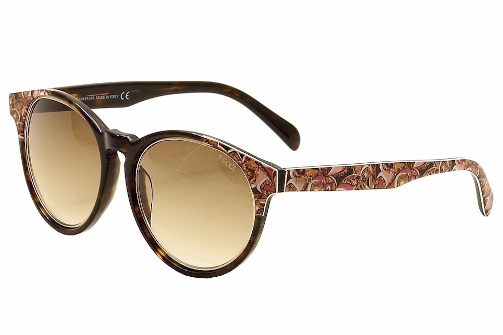 Image of Emilio Pucci Women's EP0028 EP/0028 Fashion Sunglasses - Brown - Lens 55 Bridge 19 Temple 140mm