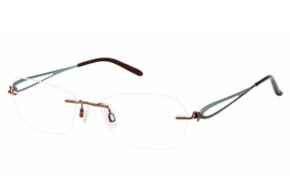 Charmant Women S Eyeglasses Ti109678 Ti 10968 Rimless Optical Frame