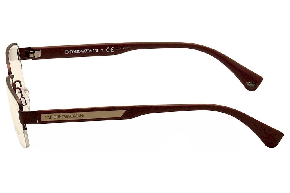 Emporio Armani Men\'s Eyeglasses EA1029 EA/1029 Half Rim Optical Frame