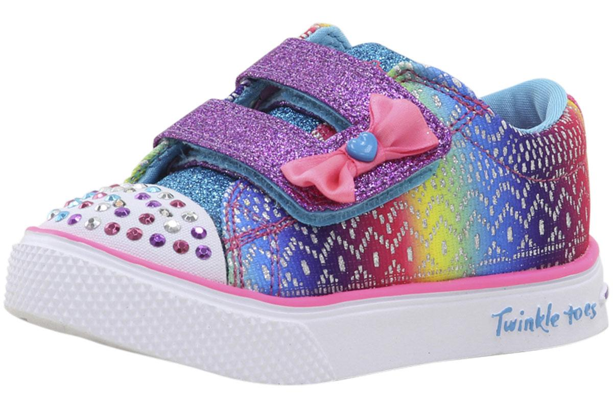 Skechers Toddler Girls Twinkle Toes Colorful Crochets Light Up